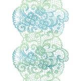 Kanten elegante waterverfgrens Kanten uitstekende versiering stock illustratie