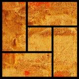 kanten inramniner guld- Arkivfoto