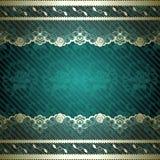 Kanten ontwerp met donkergroene achtergrond Royalty-vrije Stock Fotografie
