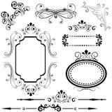 kanten planlägger ramen royaltyfri illustrationer