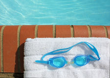 kantgoggles pool swiimng Royaltyfria Foton