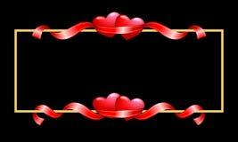 kanthjärtaband vektor illustrationer
