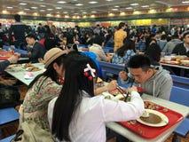Kantine in Xiamen-Universität, Südost-China stockfotografie