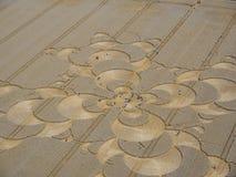 Kantjustera cirkeln i cornfield nära Mammendorf, Bayern, Tyskland arkivfoto