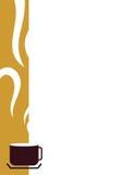kantkaffekopp stock illustrationer