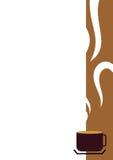 kantkaffekopp Arkivbild