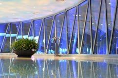 Kanton - de toren van vooruitzichtTV met grote installatie Royalty-vrije Stock Foto's