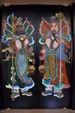KANTON KINA, CIRCA DECEMBER 2016: Målningen av dörrgudarna i kinesisk folk religion Royaltyfri Bild
