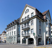 Kantonalbank office in Rapperswil royalty free stock images