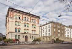 Kantonnaal de Politiebureau van Zürich op Kasernenstrasse-straat Royalty-vrije Stock Foto