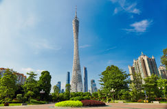 Kantontorn Guangzhou Kina Royaltyfria Foton