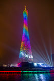 Kantontorn på natten Arkivbild