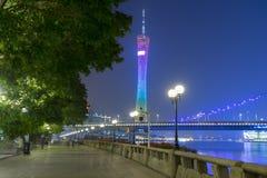 Kantonu TV wierza w Guangzhou, Chiny fotografia stock