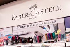 Kantoorbehoeften faber-Castell stock afbeelding