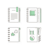 Kantoorbehoeftenpictogrammen Stock Afbeelding