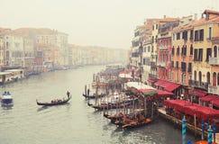 kantora bridżowy kanałowy uroczysty widok włochy Wenecji Obraz Royalty Free