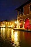 Kantora rynek, Wenecja przy nocą Obrazy Royalty Free