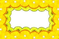 Kantram av den skivad orangen och limefrukt Fotografering för Bildbyråer