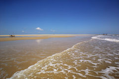 Kanu auf dem Strand Stockfoto