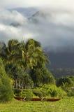 Kanu auf Gras. Lizenzfreie Stockbilder