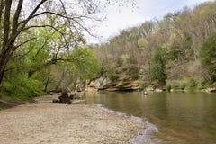 Kanu auf Sugar Creek stockbilder