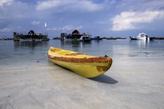 Kanu-bintan Strand riau islaand wonderfull Indonesien-Affe Asien Stockfoto
