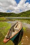 Kanu im See Stockfotografie