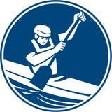 Kanu-Slalom-Kreis-Ikone Stockfotos
