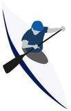 Kanu-Slalom-Sport Lizenzfreie Stockfotos