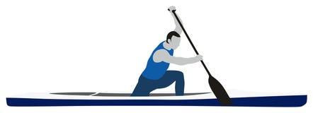Kanu Sprint-Sport Lizenzfreies Stockbild
