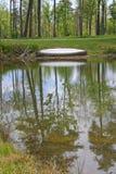 Kanu u. Teich Lizenzfreies Stockbild
