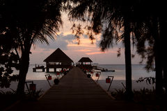 Kanuhura Resort Maldives. Sunset on a beautiful Resort Island located in the Maldive Islands Stock Photos