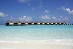 Kanuhura Resort Maldives. Sunset on a beautiful Resort Island located in the Maldive Islands Stock Photography