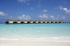 kanuhuramaldives semesterort arkivbild