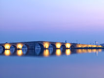 Kanuni苏丹Suleyman桥梁在伊斯坦布尔 库存照片
