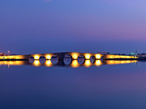 Kanuni苏丹Suleyman桥梁在伊斯坦布尔 免版税库存照片
