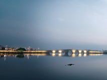 Kanuni苏丹Suleyman桥梁在伊斯坦布尔 图库摄影