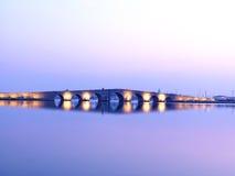 Kanuni苏丹Suleyman桥梁在伊斯坦布尔 免版税库存图片