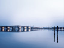 Kanuni Sultan Suleyman Bridge en Estambul Imagen de archivo