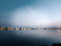 Kanuni Sultan Suleyman Bridge in Istanbul Royalty Free Stock Image
