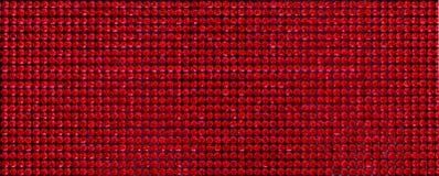 Kanwa czerwoni rhinestones Tło Tęsk Zdjęcie Stock