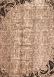 kanwa rocznik ramowy stary papierowy Zdjęcia Royalty Free