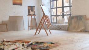 Kanwa w sztuka warsztacie zdjęcie wideo