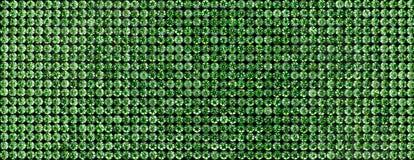 Kanwa zieleni rhinestones Tło Tęsk Zdjęcie Stock