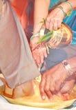 Kanyadanam på en södra indisk förbindelse Royaltyfri Bild