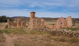 Kanyaka Homestead. Ruins of the Kanyaka Homestead in South Australia stock photo