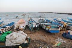 Kanyakumari fishing boats Royalty Free Stock Image