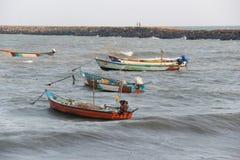 Kanyakumari fishing boats Royalty Free Stock Images