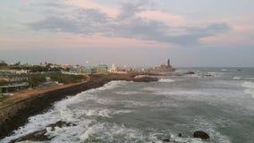 Kanyakumari, kuststad in de zuidelijke kust van India royalty-vrije stock afbeeldingen