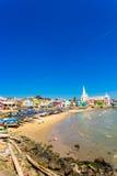 Kanyakumari Plażowych domów dama okupu kościół V Zdjęcia Royalty Free